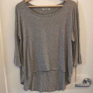 "Michael Stars ""High -Low 3/4 Sleeve T-Shirt"""